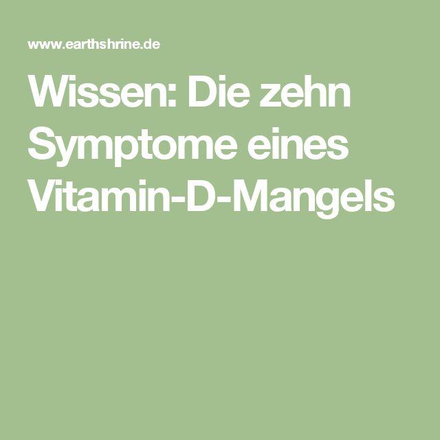 Wissen: Die zehn Symptome eines Vitamin-D-Mangels
