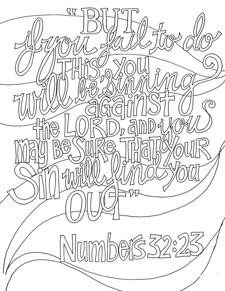 Numbers 3223 Scripture doodle, Scripture coloring