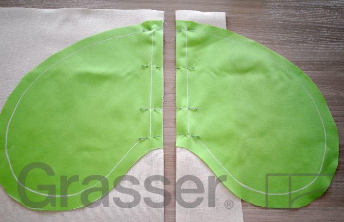 Технология пошива: обработка кармана в шве с припусками вразутюжку. Мастер-класс от школы шитья GRASSER