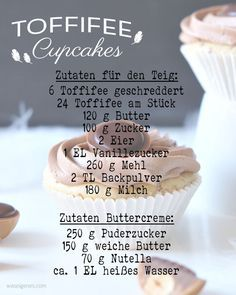 Toffifee Cupcakes mit köstlichem Nutella-Buttercreme Topping und einem Toffifee als i-Tüpfelchen | Rezept & Anleitung auf waseigenes.com