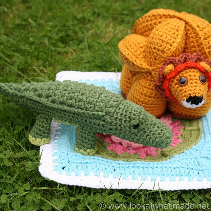 Amigurumi Zoo Animals : Colin the crochet crocodile pattern little zoo animal