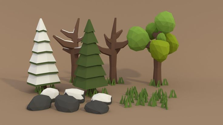 Time to learn how to make low poly models for your forest scenes. In this video I will show you how to make pine trees, normal trees, rocks and grass. I also...