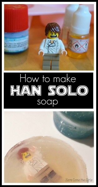 How to Make frozen Han Solo in Carbonite Soap - the perfect kids craft for Star Wars fans