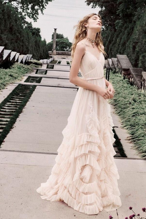 54b1b0d3 Marchesa Notte N30G0839 Blush Sleeveless Textured Tulle A Line Ball Gown |  Poshare