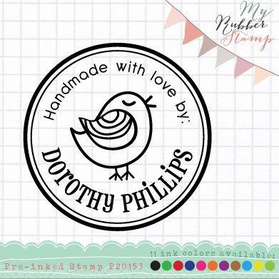 Bird Personalized Pre-inked Stamp (Self Inking Stamp). Address Stamp, Business Stamp, Custom Rubber Address Stamp (P20153) via Etsy