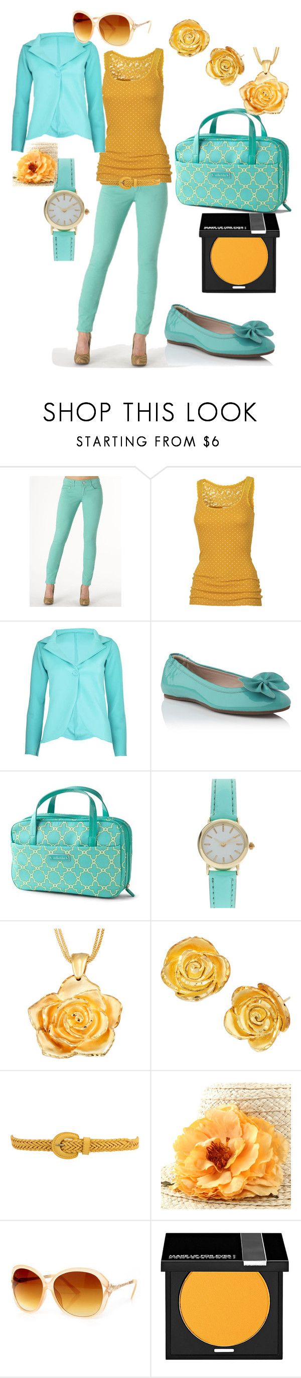 """mint green pants - orange outfit"" by jaystilo ❤ liked on Polyvore featuring Indigo Rein, Fat Face, L.K.Bennett, Stella & Dot, ASOS, Forever 21, MAKE UP FOR EVER, mint green and orange"