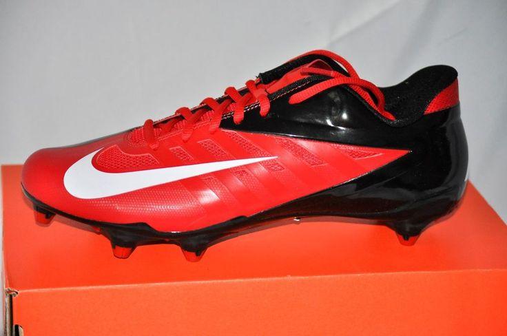 Nike Vapor Pro Low D Men Football Cleats Game Red White Black size 10 D NIB #Nike