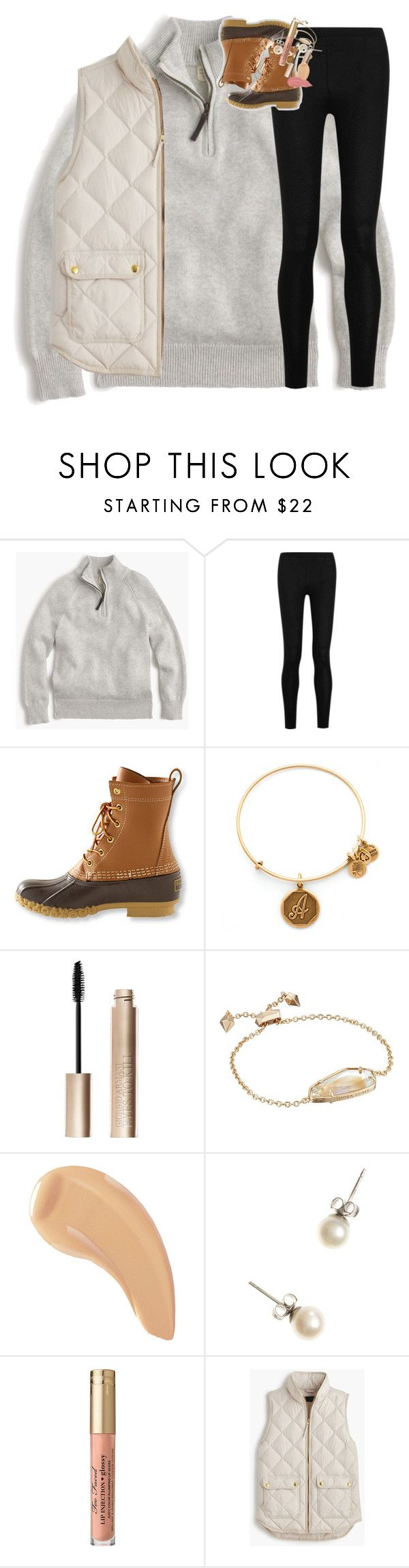 """so excited for cheer season!"" by classynsouthern ❤ liked on Polyvore featuring J.Crew, Donna Karan, L.L.Bean, Alex and Ani, Giorgio Armani, Kendra Scott and NARS Cosmetics"