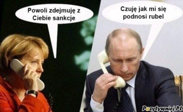 Romans Merkel z Putinem