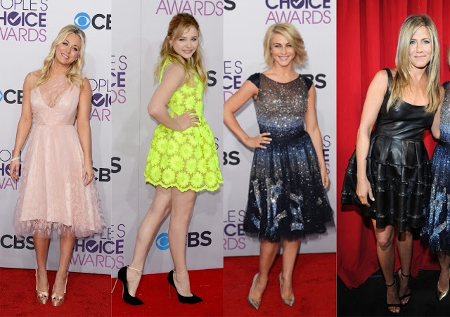 Kaley Cuoco,Chloe Grace Moretz , Julianne Hough e Jennifer Aninston.
