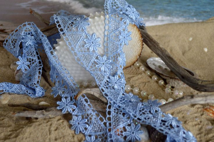 blue lace, floral design, 4cm wide, polyester, embroidered, trim.(bl008) by TheQuiltedCheese on Etsy