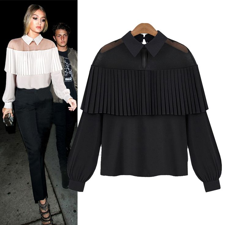 high quality brand summer new off shoulder cape-style Loose Pleated white black tops chiffon blouse shirt women Chemisier Sexy