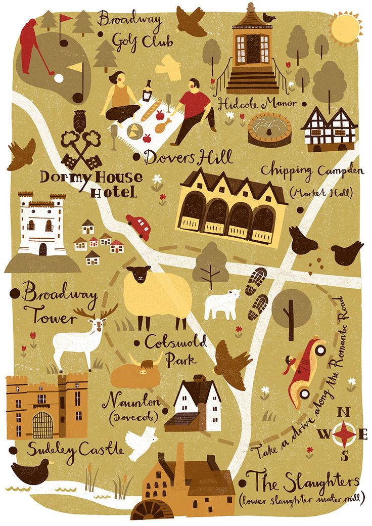 Lauren Radley  - Dormy House Hotel map - Cotswolds