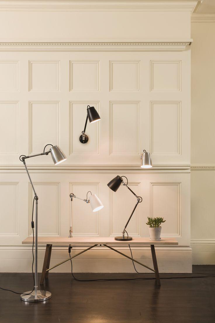 Przepiękna seria lamp Atelier inspirowana lampami funkcyjnymi z lat 50-tych. Wszystkie wykonane z najwyższą dbałością o szczegóły i jakość.
