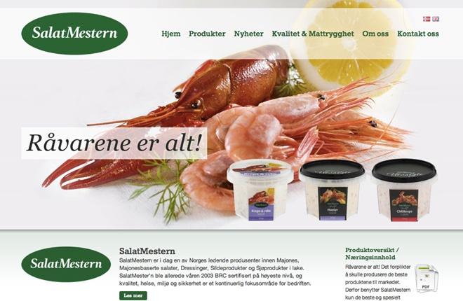 Salatmestern, nettsider tilpasset nett og mobil
