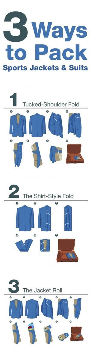 Going away for business? Here are some tips on how to pack a suit.