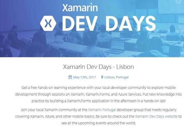 Xamarin Dev Days  @Lisbon 12 May 2017