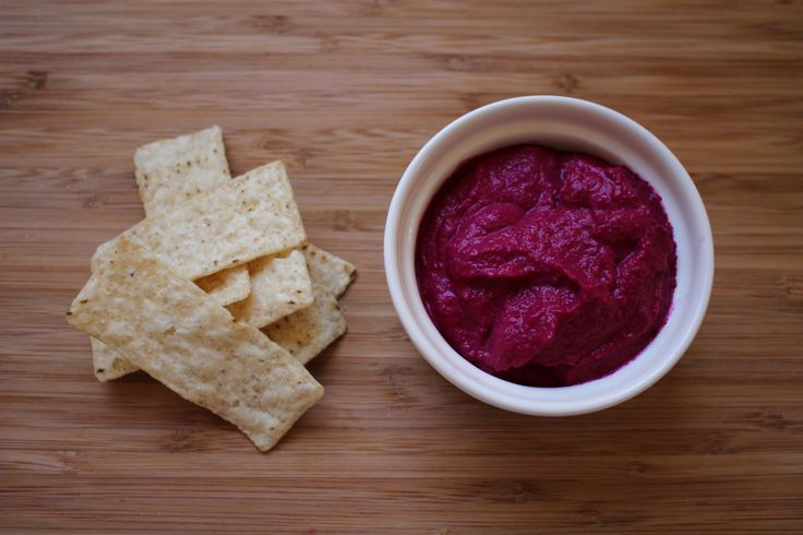 Roast beetroot dip in the Bellini. Add garlic and cumin and omit horseradish