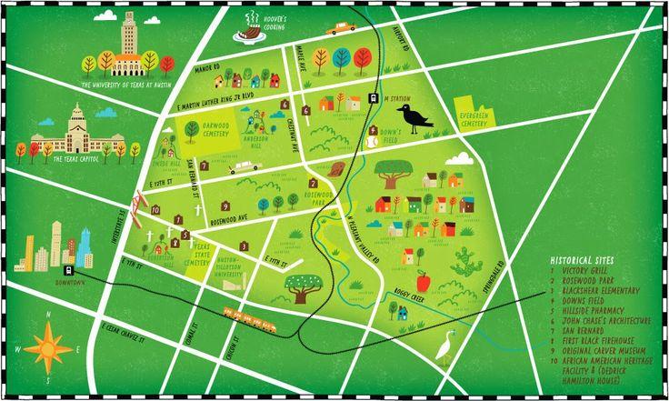 I Draw Maps Historical Landmark Map For Austin39s African