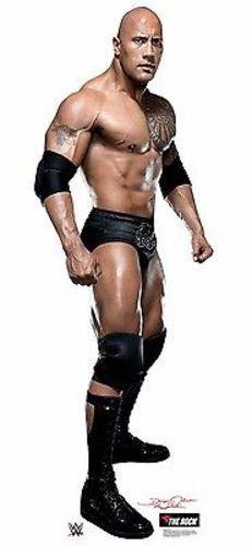 WWE WRESTLER THE ROCK DWAYNE JOHNSON LIFESIZE STANDUP CARDBOARD CUTOUT 1925