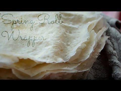 ❤ Homemade Spring Roll Wrapper / Lumpia Wrapper / Popiah Skin | It's Mor...
