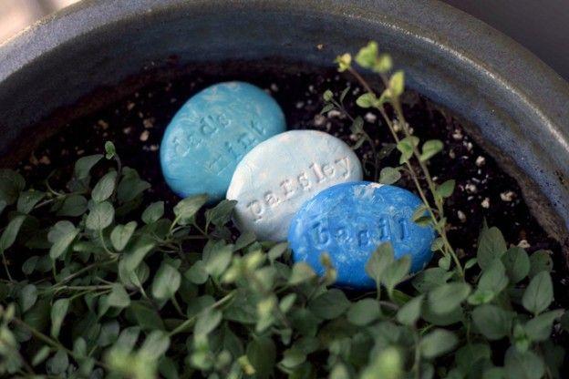Polymer Garden Stones - great for the school garden