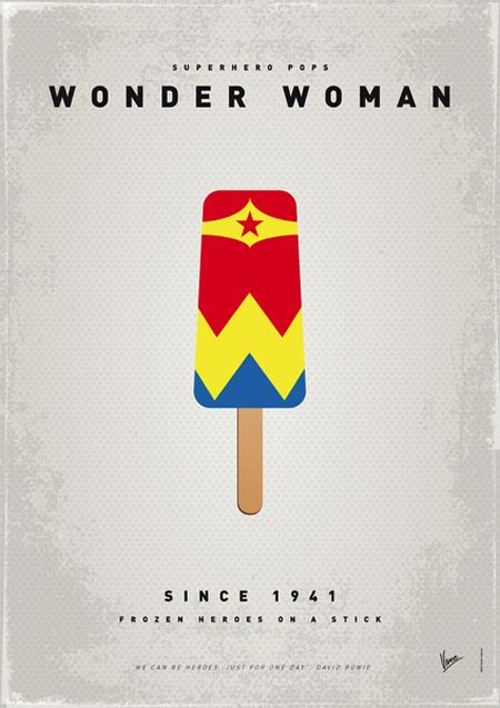 Frozen heroes on a stick