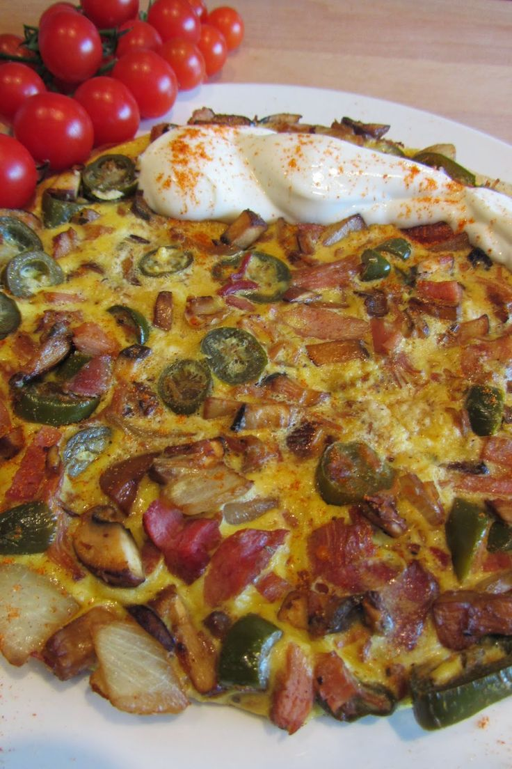 Slimming World Delights: Gammon, Hash Omelette