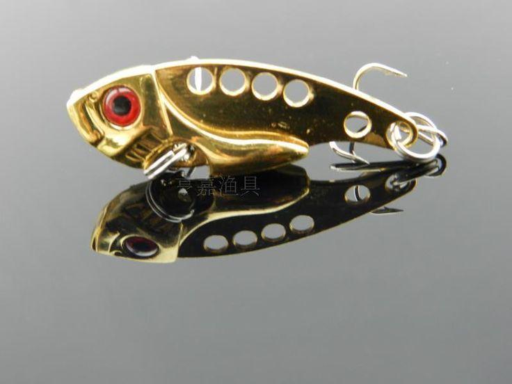 4 pcs 5.5cm-11g 4 clolrs Metal VIB fishing lure Vibration hard Lures Bass bait  Pikes Whole swim lifilike carp lure (VIB009)