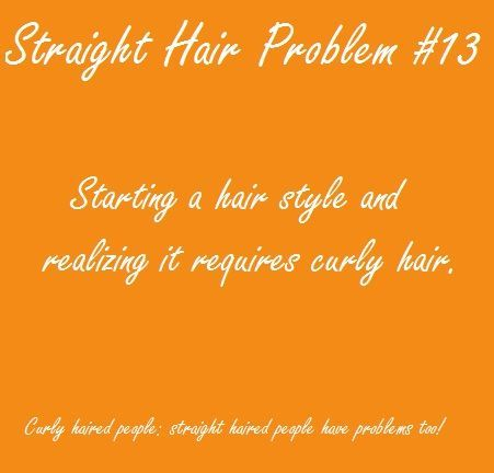 it's always this way but with straight not curly hair!!