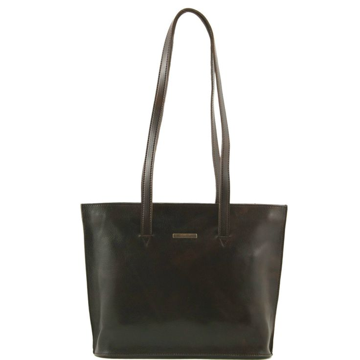 Tuscany Leather Guilia Leather Bag in Dark Brown