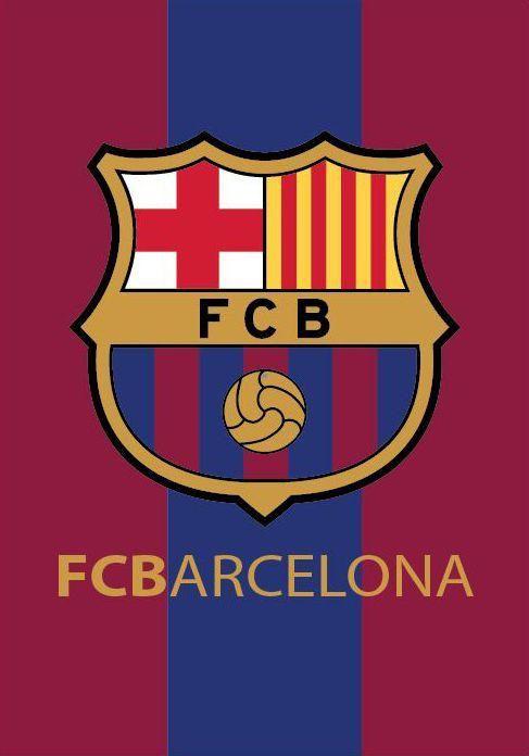 FC Barcelona Fleece Plaid Logo 140x200cm  #voetbal #laliga #cadeau #voetbalkids #premierleague