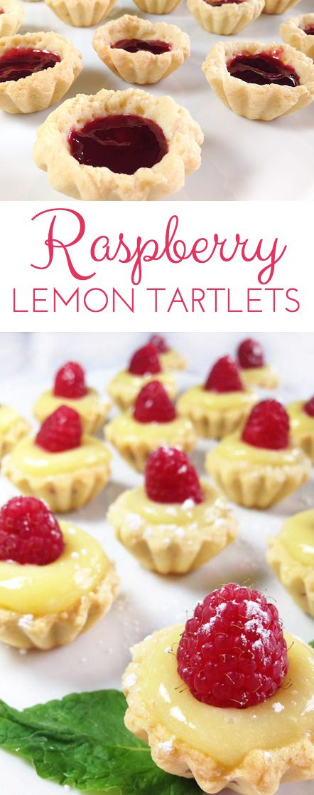 Irresistible Raspberry Lemon Tartlets. Crunchy, light tart shells layered with seedless raspberry jam, lemon curd and fresh raspberries. Need I say more?  | Through Her Looking Glass