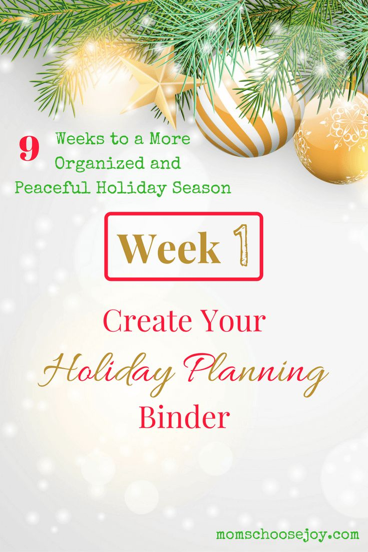 Does Christmas planning have you down? Check out this 9-week series to help you get organized for the holidays with a Christmas Planner and so much more. This blog series covers EVERYTHING you need for a peaceful holiday season. Week 1 shows you how to create your holiday planning binder.