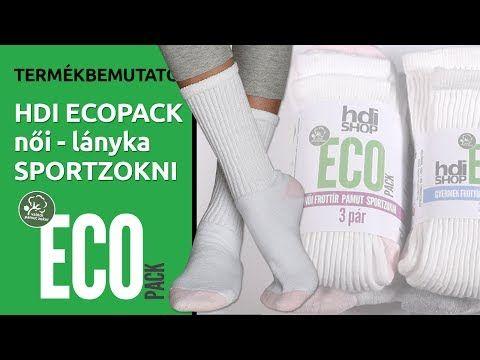 HDI EcoPack női frottír pamut sportzokni - 3 pár - hdishop.hu