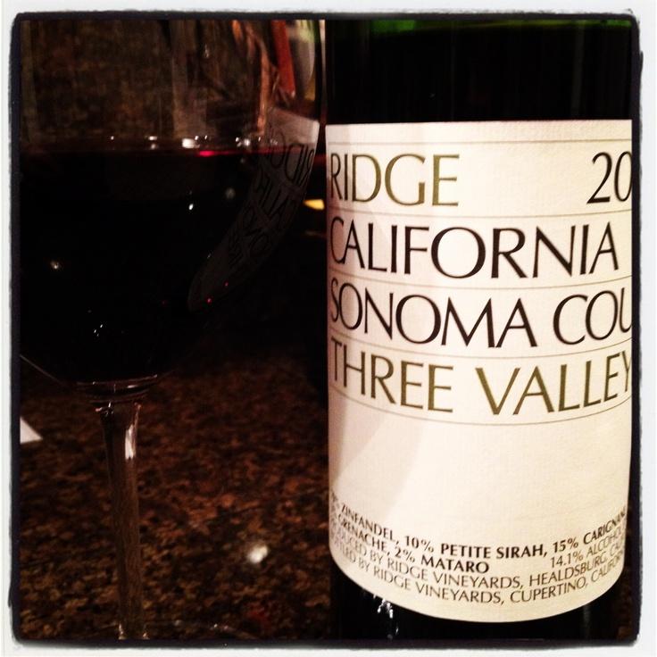 "2009 Ridge Vineyards ""Three Valleys"" Zinfandel Blend. #wine #smooth #delicious: Wine Cellar, Ridge Three, Ridge Vineyard, Vineyard Three, Valley Zin, Things Wine, 2009 Ridge, Zinfandel Blend, Three Valley"