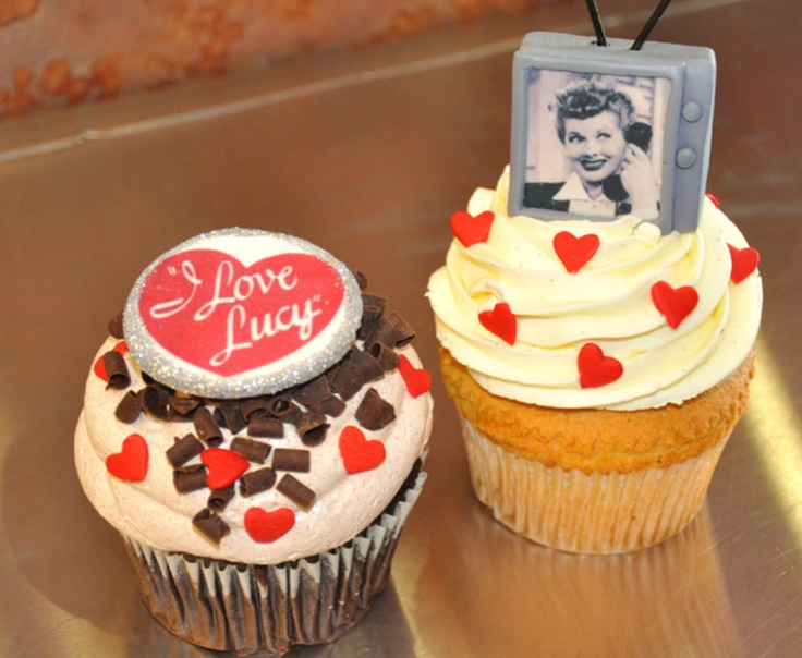 I Love Lucy Cupcakes by The Cake Mamas: www.thecakemamas.com