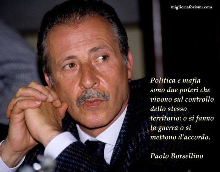 Paolo Borsellino - Aforismi