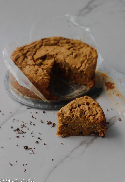 Torta de zapallo (ahuyama) y compota de manzana 🍎 con ceroooo azúcar ni stevia ni panela 🤗🤗🤗🤗! Los cacao nibs son divinos y le dan la textura crunchi q necesita.– Healthy Green Genie