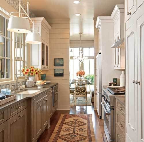 LOVE galley kitchens