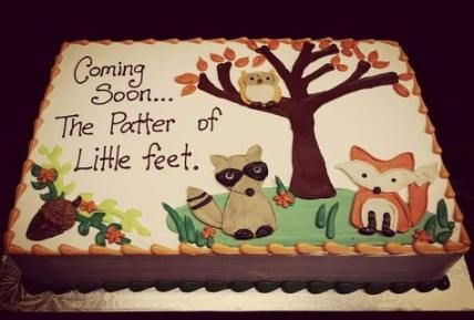 Super baby shower cake for boys cupcakes woodland animals ideas