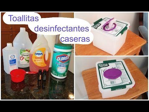 Toallitas desinfectantes caseras - YouTube