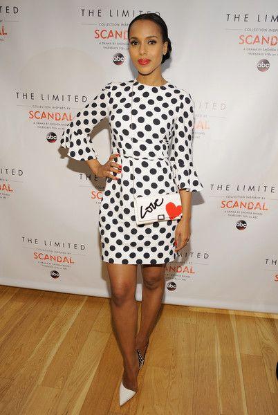 Look of the Day, February 4th: Kerry Washington's Polka Dot Frock   Stylebistro.com