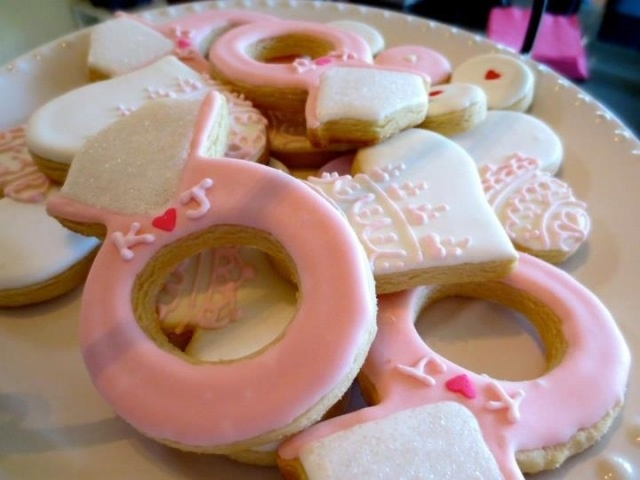 engagement ring sugar cookies: Engagement Ring