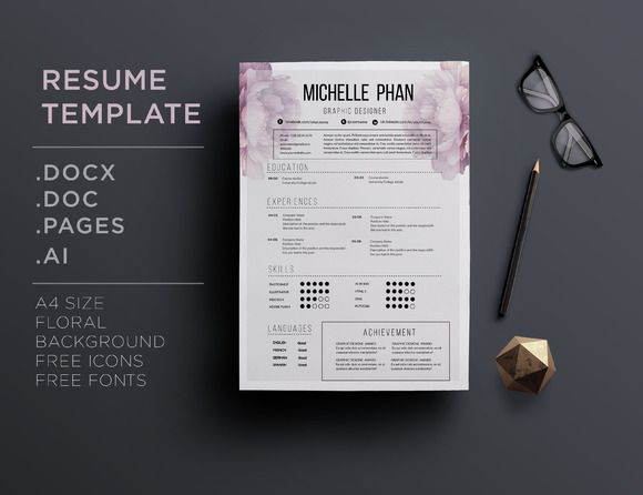 17 best images about beautiful resumes    feminine resumes