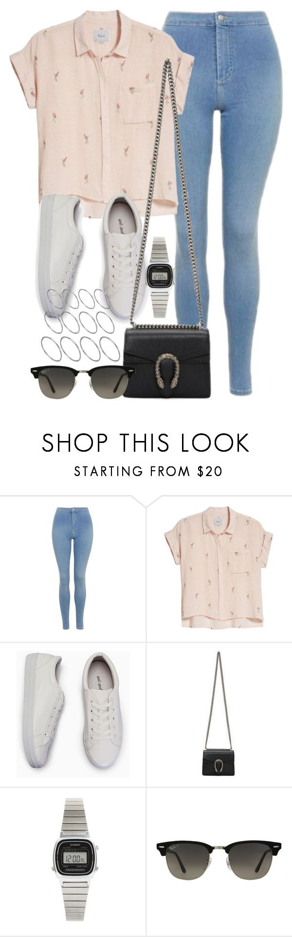 """Sin título #13154"" by vany-alvarado ❤ liked on Polyvore featuring Topshop, Rails, Gucci, Casio, Ray-Ban and ASOS"