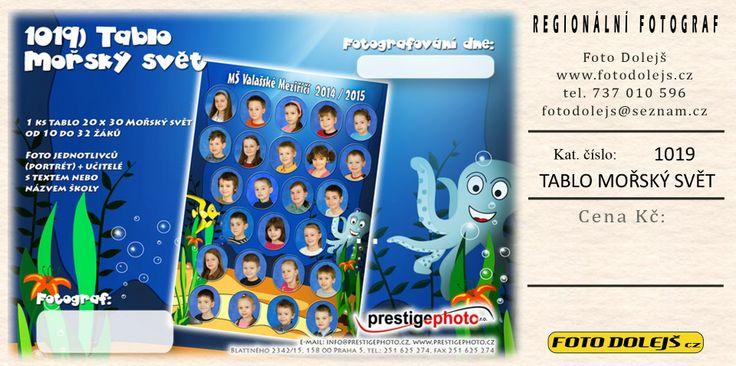 Tablo Mořský svět. Rozmezí dětí by mělo  být  u všech tabel  od 10 dětí do 32.