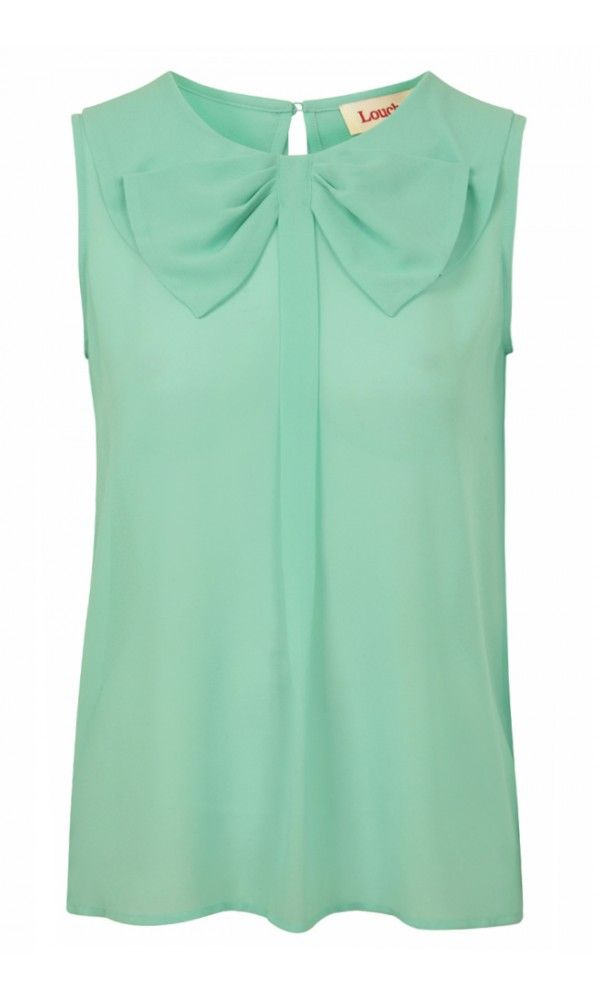 Louche Inel Bow Blouse in Mint