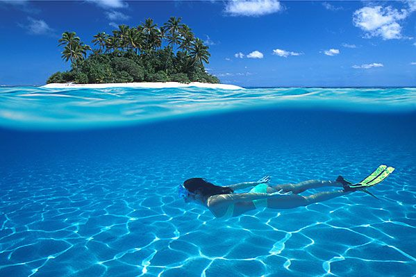 the Maldives. crystal clear water and white sandy beaches - beautiful.