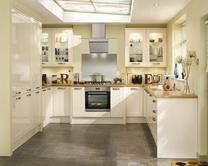 Burford Gloss Cream kitchens can be combined with a number of kitchen accessories to create a classic or traditional look.